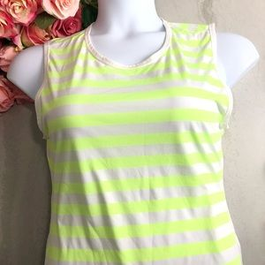 Athleta Neon Yellow Athletic Running Tank